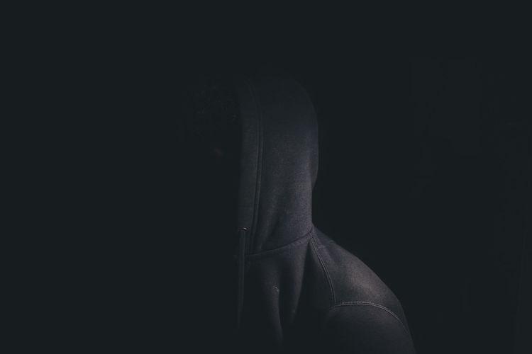 View of the dark