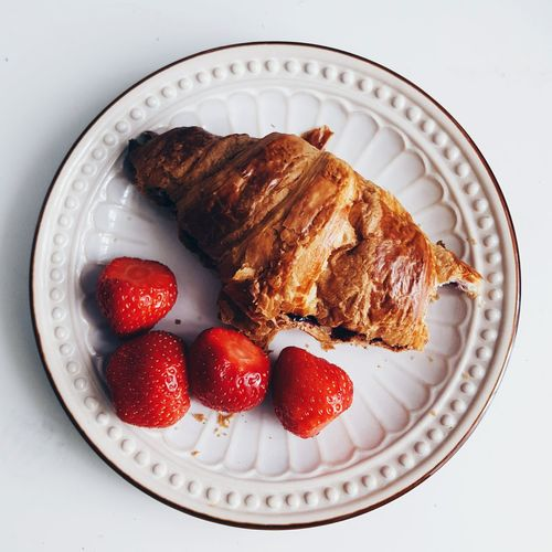 Yum Breakfast Croissant Strawberries Wake Up Relax Simple Simplicity Simple Photography English Breakfast French Breakfast Simple Photo Getup Getupandgo Brunch Eat Home Is Where The Art Is