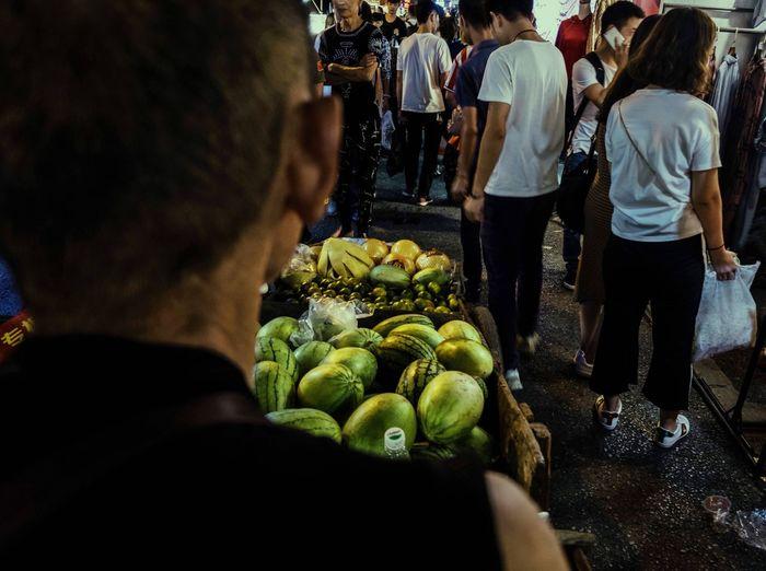 果农 Farmer Rear View Healthy Eating Food And Drink Market Stall Freshness Fruit Working