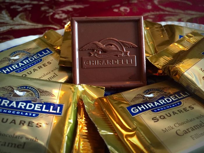 Ghirardelli Chocolate Squares Candy Chocolate Chocolate Squares Close-up Day Display Focus On Foreground Ghirardelli Chocolate Squares No People Selective Focus
