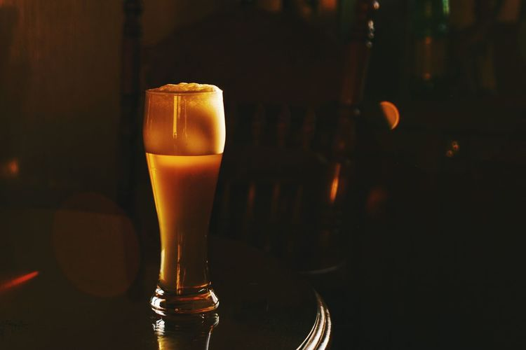 A glass of beer Beer Glass Foodphotography Beverage