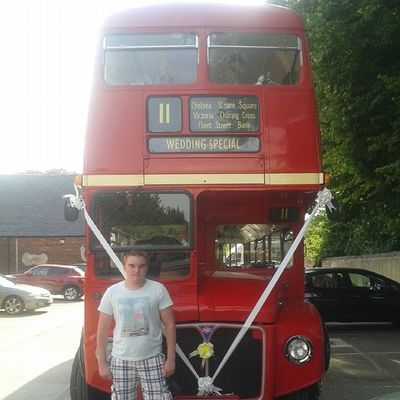 Wedding Bus! Londonbus England Derbyshire Bolsover WeddingSpecial
