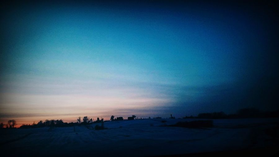 Sky Landscape Driving