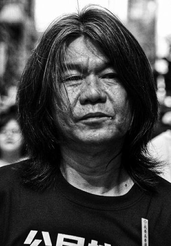 Politician The Portraitist - 2015 EyeEm Awards Hongkonger Long Hair 梁國雄 @ 71大遊行 2015 我要真普選 My Best Photo 2015 Portrait