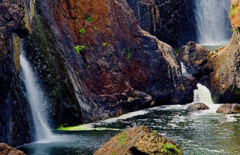 3 Waterfalls Waterfall Water Rock - Object Motion Scenics Rock Formation River EyeEmNewHere EyeEmNewHere EyeEmNewHere