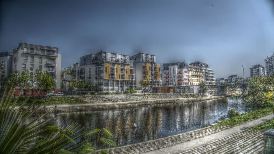 Architecture Building Building Exterior Built Structure Canal City Day HDR Reflection Residential Building Residential Structure River Water