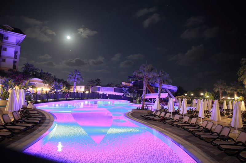 Pictures are everywhere Moon Swimming Pool Turkey Hotel Plant Cloud - Sky