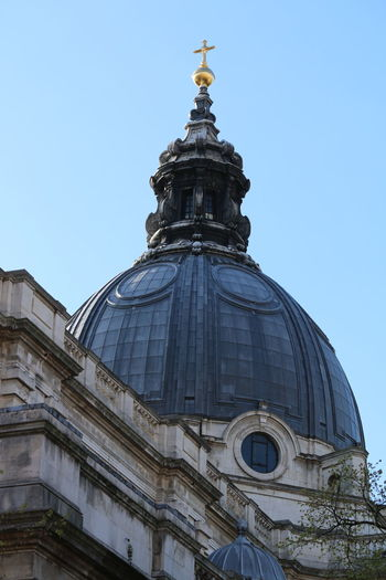 Exterior of brompton oratory against clear sky
