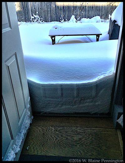 My studio door Blizzard 2016 Snowzilla Epic Snow