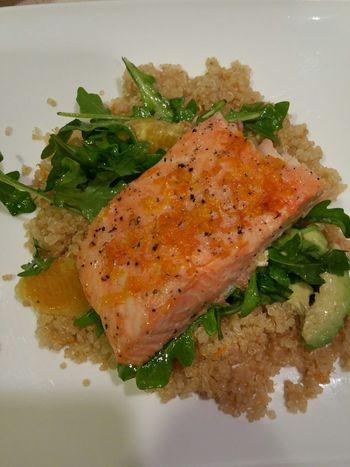 Mealtime Salmon Quinoa Tangelo