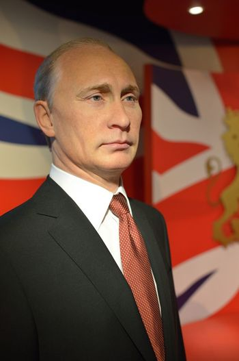 Vladimir Putin Casual Clothing Confidence  Contemplation Fashion Front View Holding Indoors  Lifestyles Looking At Camera Madame Tussauds Person Portrait Real People Serious Standing Studio Shot Wax Dolls Wax Museum Young Adult Young Men