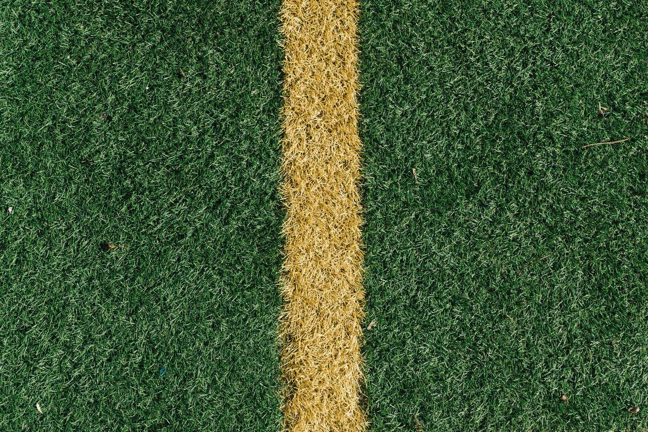 Close-up of yellow line
