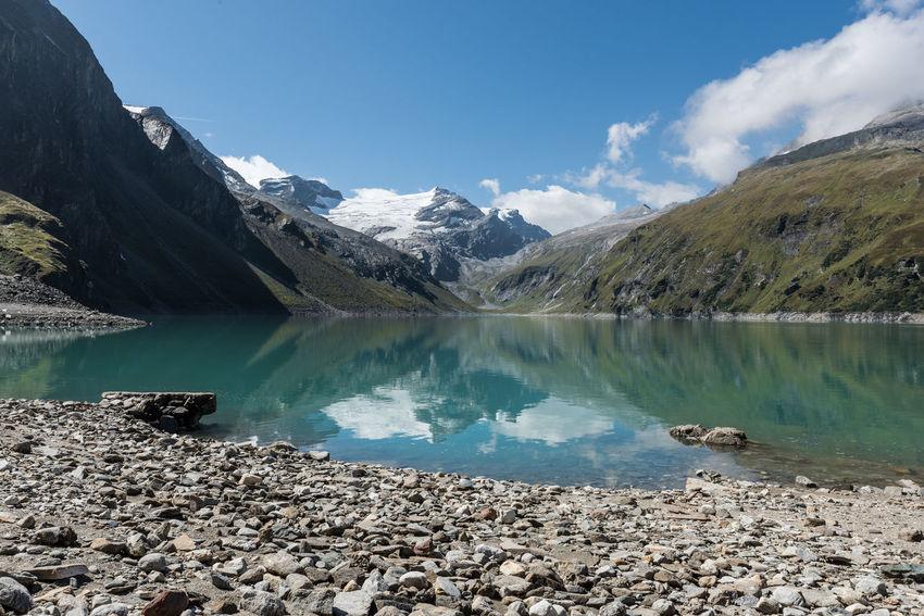 Himmel Hochgebirge Hochgebirgsstausee Hohe Tauern Karlingerkees Moorboden Salzburger Land Stausee Wolken Gebirge Kaprun Österreich