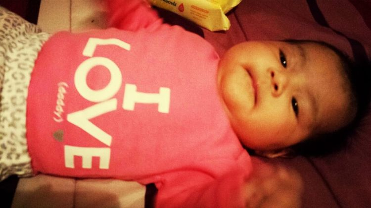 she put on a shirt that says i love daddy awww <3 #she #does #love #me #my #twin #lol