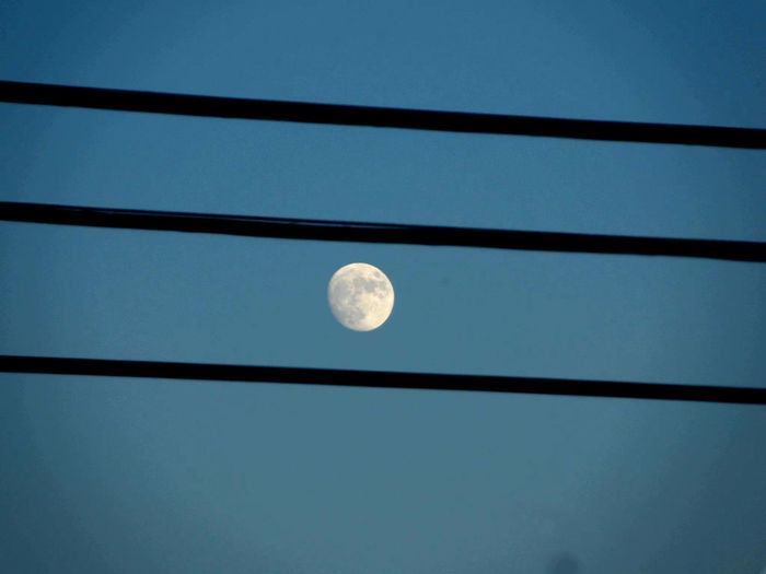 Electricity  Evening Sky Linedup Man In The Moon Moon Moonrise Photography Themes Skyline Technology Wires In The Sky Home Sweet Home Showcase: November No People Northern California Dreaming Space