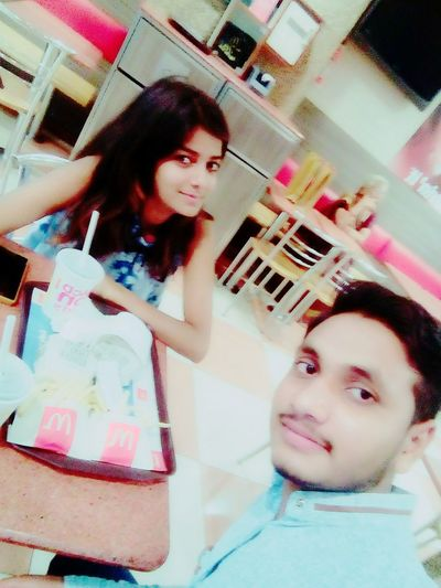 Feeling Well With Beautiful Girl❤ In Z Square Kanpur First Eyeem Photo
