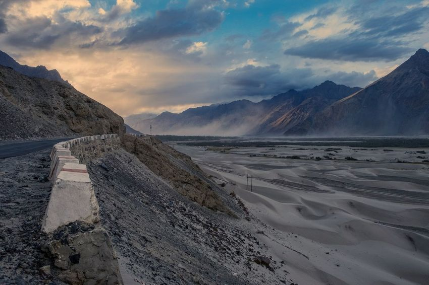 Nubra valley Mountain Landscape Cloud - Sky No People Outdoors EyeEmNewHere Fujifilm_xseries Color Fujjufilm Fujifilm_xseries NubraValley Ladakh Landscape_photography Landscape Sand Dune Sand Barren