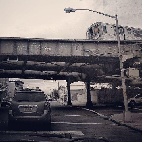 Passenger's Side Perspective, Fort Hamilton Parkway, Brooklyn Subway Driving Brooklyn Color Splash