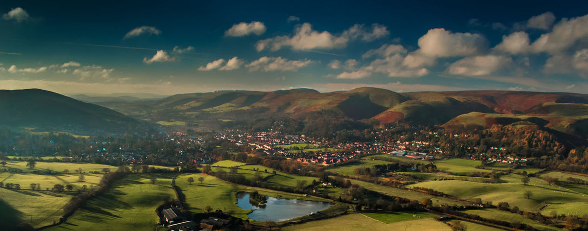 Church Stretton Grass Hills Hills And Valleys Hillside House Landscape Mountain No People Outdoors Shropshire Hills Village