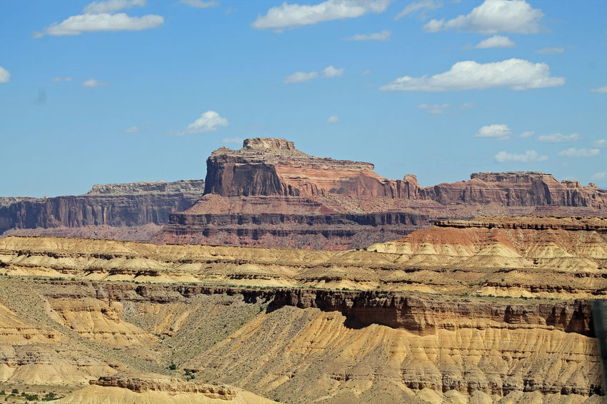 Gorgeous desert scenery along the highway in Utah Blue Sky Canyon Desert Deserts Around The World Erosion Geology Nature Rock Formation Utah The KIOMI Collection