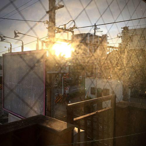 Between classes. Sunset. Sunset