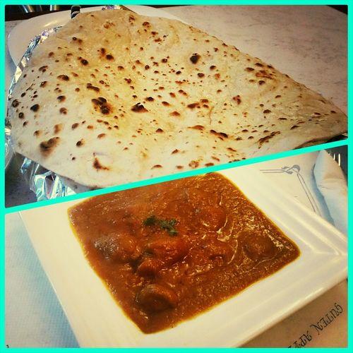 chapati con Lambmadras very tasty