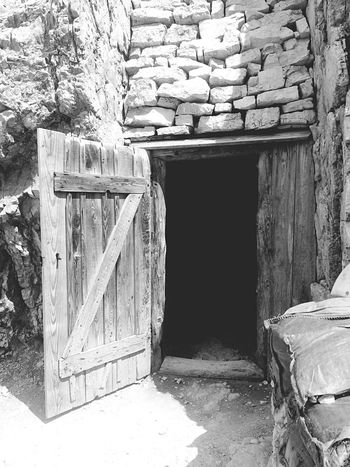 Blackandwhite Black And White Black & White Blackandwhite Photography Lagazuoi Firstworldwar Impressive Emotions Nowar Peace Mountain Entrance Wood - Material Door No People Built Structure Architecture Indoors  Day Gallery Trincee Grandeguerra Italia Italy