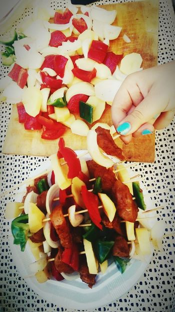 Barbecue Relaxing Friends Yummy♡ Vegetables CHiCKEN NUGGETS
