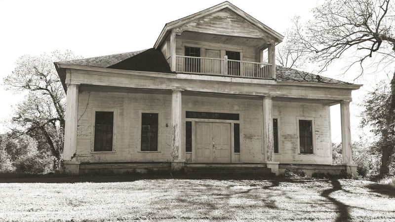 Building Exterior Abandoned Architecture Nature Vs Humanity Old Buildings Greek Style 19th Century Buildings House B&W Collection Shadows & Lights Sepia_collection Rural Scene Alabama Architecture