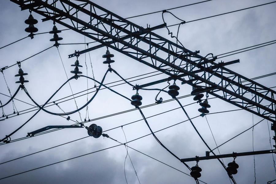 Wires Sky Wires In The Sky Electric Wires Novokuznetsk Kuzbass Siberia Russia