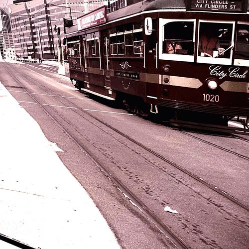 Tram full of effects Enjoying Life Melbourne Playing With Effects Public Transportation Colors