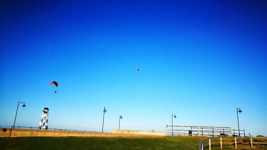Para Gliders Blue Flying Sunny Sky Outdoors No People Nature
