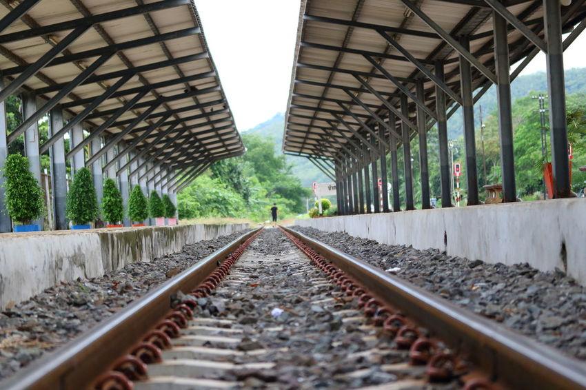 Alone Nakhon Ratchasima Railroad Track Thailand Train Tracks Transportation Travel Emoty Rail Transportation Railroad Station Train Train - Vehicle Train Station Walking