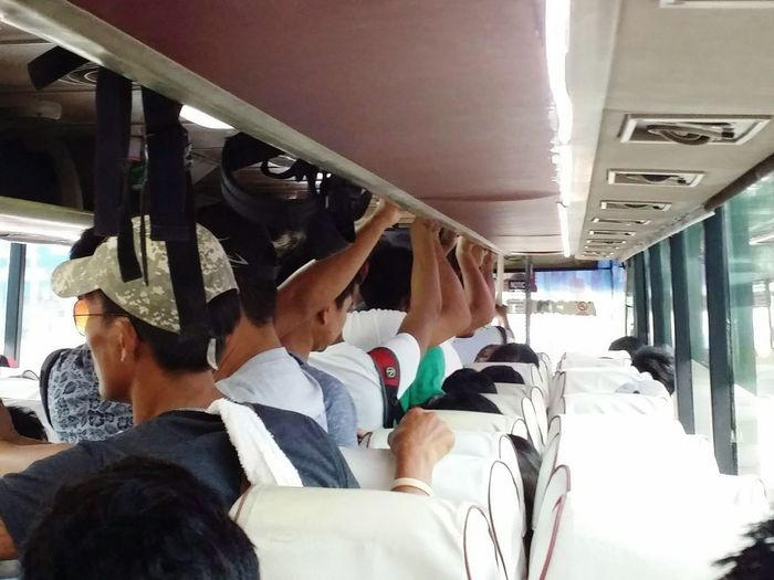 Public Transport Transportation Travel Day Men People Bus Local ASIA Phillipines Nlex