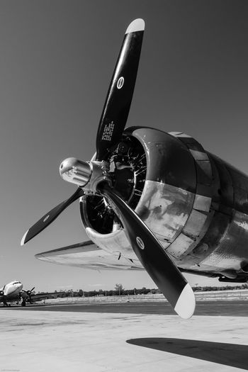 Closeup of propellor on the B-17 World War II bomber, Sentimental Journey. Airplane B-17, Black And White Bomber Close-up Commemorative Air Force Falcon Field Propellor Sentimental Journe World War II First Eyeem Photo EyeEmNewHere