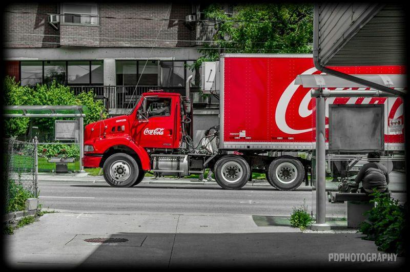Taking Photos Truck 18wheeler Coka Cola Cola Coloursplash Nikon EyeEmBestPics Istanbul Nikon50mm