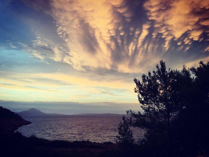 Mamatusclouds Losinj Croatia Beauty In Nature Water Outdoors Sunset Sea First Eyeem Photo