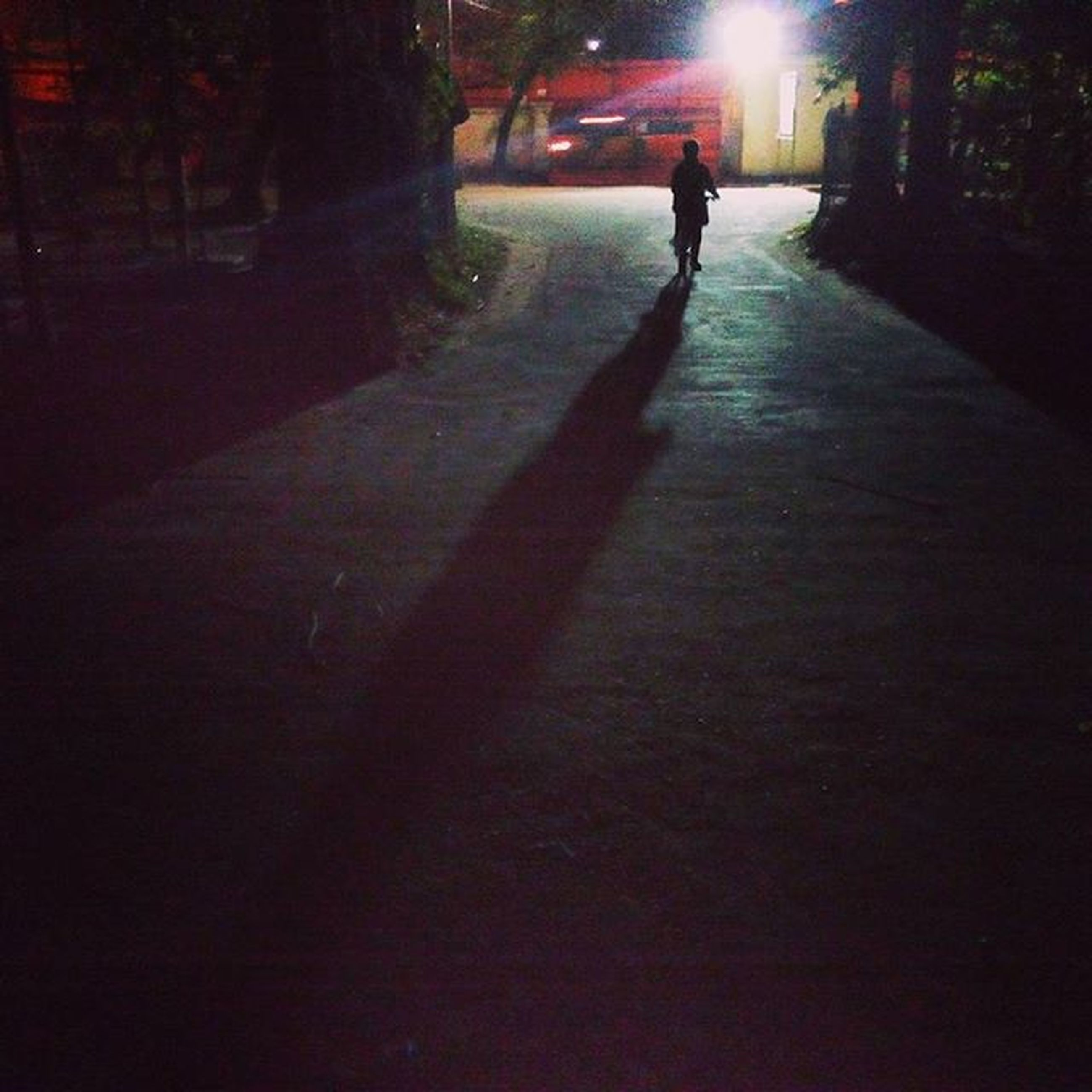 full length, lifestyles, walking, leisure activity, men, sunlight, street, rear view, the way forward, shadow, on the move, transportation, tree, person, road, outdoors, silhouette
