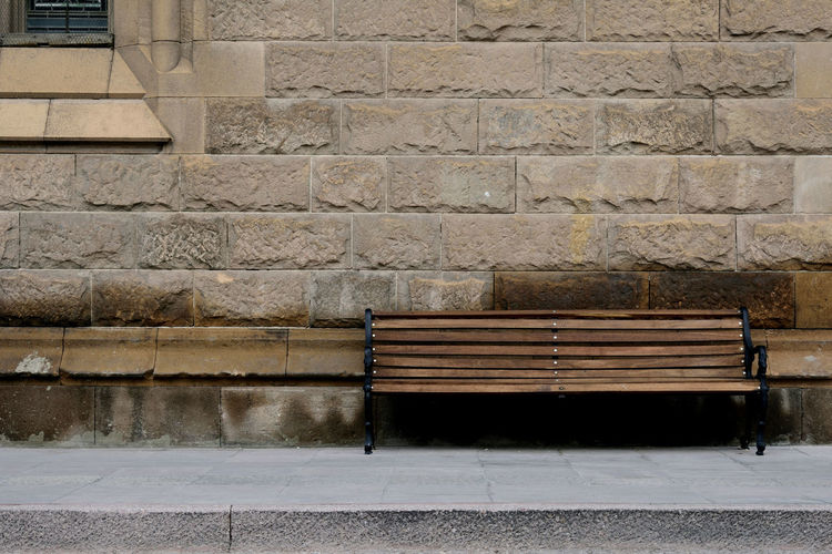 Ben Conceptual Art Mexico San Luis Potosí Sit Architecture Brick Wall Building Exterior Built Structure Conceptual Photography  Day No People Oldtown Outdoors Street Wall - Building Feature Bench Bench Seat