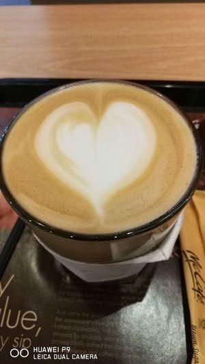 Latte is my morning breakfast