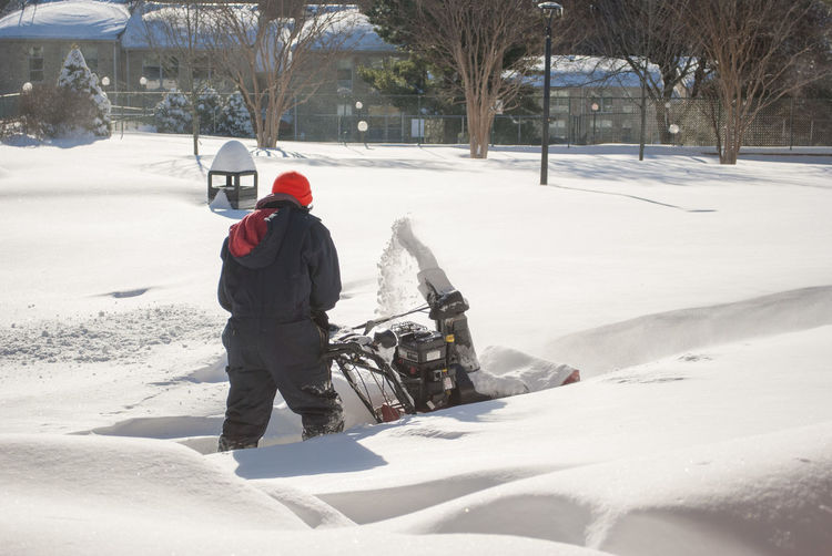 EyeEmNewHere Snow Mowing Snow After Snowstorm Mowing Snow Clearing Winter Cold Temperature Extreme Weather