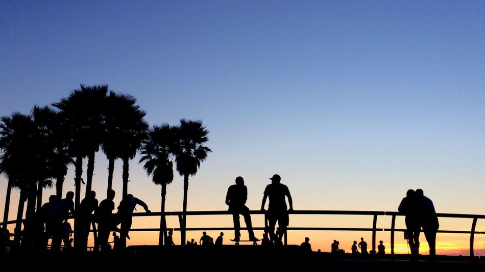 Looking To The Other Side Silhouette Sunset Silhouettes Nofilter IPhoneography Eye4photography  Street Photography EyeEm Best Shots Venice Beach California Genuine Brazil Images