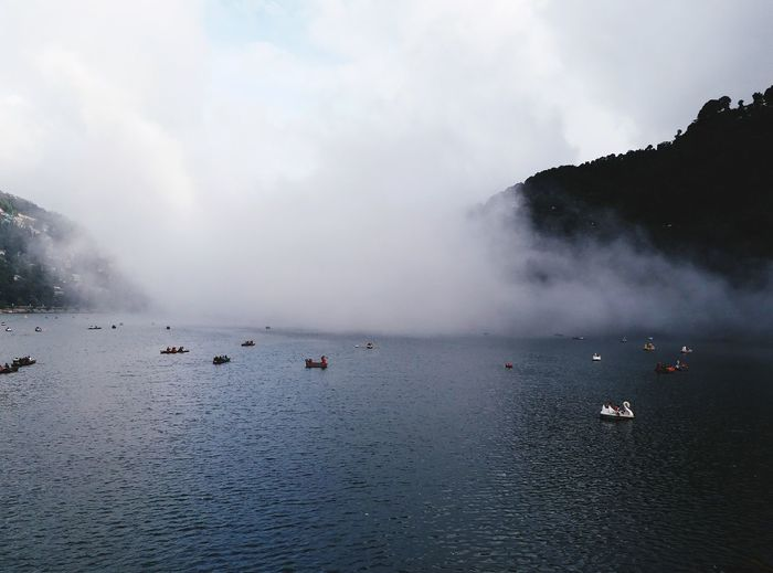 Clouds on Nainital Lake Clouds Collection Nainitaldiaries Clouds On Water Water Sea Mountain Bird Hot Spring Swimming Fog Whale Humpback Whale Sky Physical Geography Rock Formation Natural Arch Rock Hoodoo