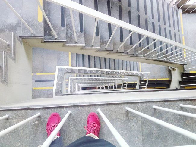One Person Low Section Personal Perspective Human Leg Human Body Part Real People Railing Transportation Steps And Staircases Day Architecture Indoors  People Aesthetic Aesthetics Aestheism