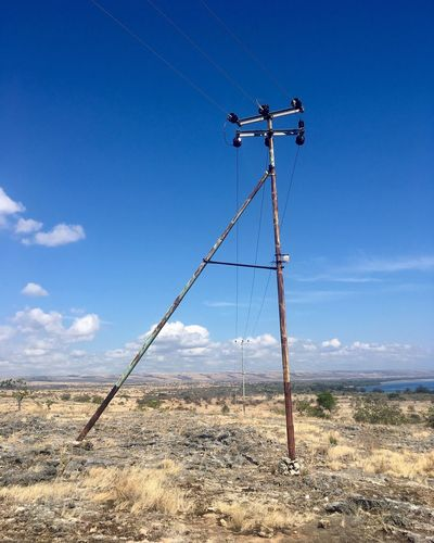 Sky Nature Day Land Cloud - Sky Technology No People Electricity  Cable Outdoors Landscape Electricity Pylon