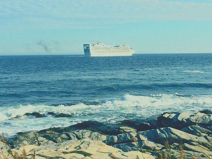 Cruise ship on the bay. Around Me Photo. Jamestown RI