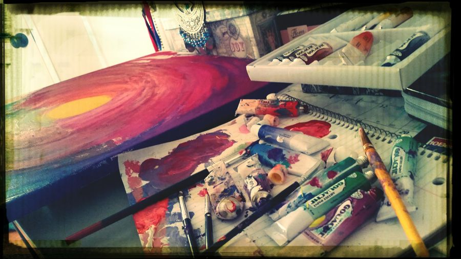 Work in Progres☆ Enjoying Life Notes From The Underground Paint War Nourish Your Inner Creativity