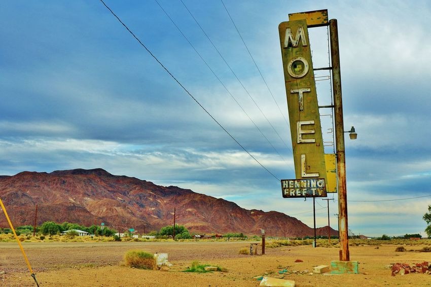 Old motel sign on Route 66, USA,Bagdad Cafe America American Dream Arizona Bagdad Cafe California Canon EOS 7D Mark II Colorful EyeEm EyeEm Gallery Famous Place German Getty Getty & Eyeem Getty Images Getty X EyeEm Gettyimages Hello World Movie World Old Motel Sign Route 66 Route66 Taking Photos USA USAtrip