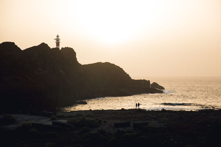 Water Sea Sky Scenics - Nature Tenerife Lighthouse Nature Horizon Over Water Horizon Outdoors Summer Sun Sunset Sunrise Sunset_collection Nature Nature_collection Nature Photography Landscape_Collection Landscape Travel Travel Destinations Traveling Ocean View