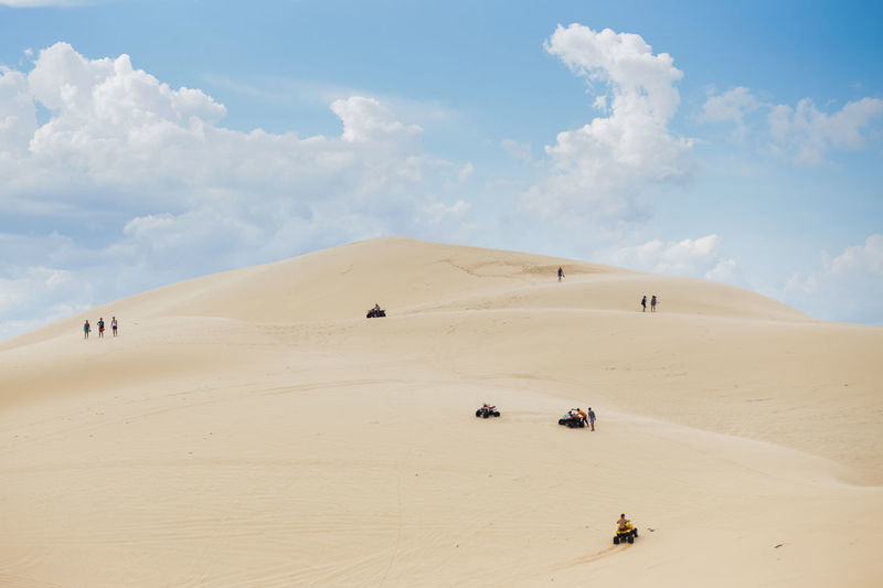 White Sand Dunes, Mui Ne, located in the south of Vietnam. It's about 5-hour away from Ho Chi Minh City. Adventure Arid Climate Beauty In Nature Cloud - Sky Desert Landscape Leisure Activity Lifestyles Muine Muine, Vietnam  Nature Outdoors Physical Geography Sand Sand Dune Sky Travel Destinations White Sand Dunes Break The Mold The Great Outdoors - 2017 EyeEm Awards Neighborhood Map Neighborhood Map Live For The Story Let's Go. Together. Lost In The Landscape An Eye For Travel Go Higher